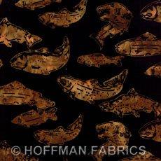 Hoffman Batik - Salmon Antique Black J2431-A4