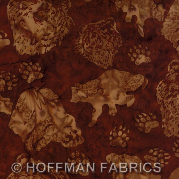 Hoffman Batik Brown