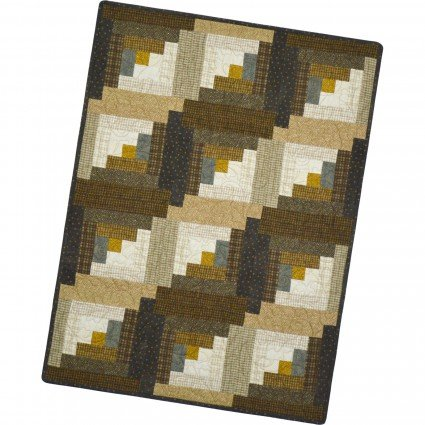 Maywood - 12 Block Log Cabin Pod Precut Kit - Woolies Flannel