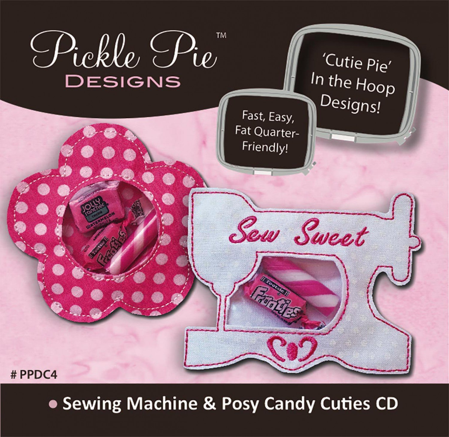 Sewing machine posy embroidery cd