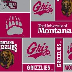 College Fleece - Montana Grizzlies Patch Print