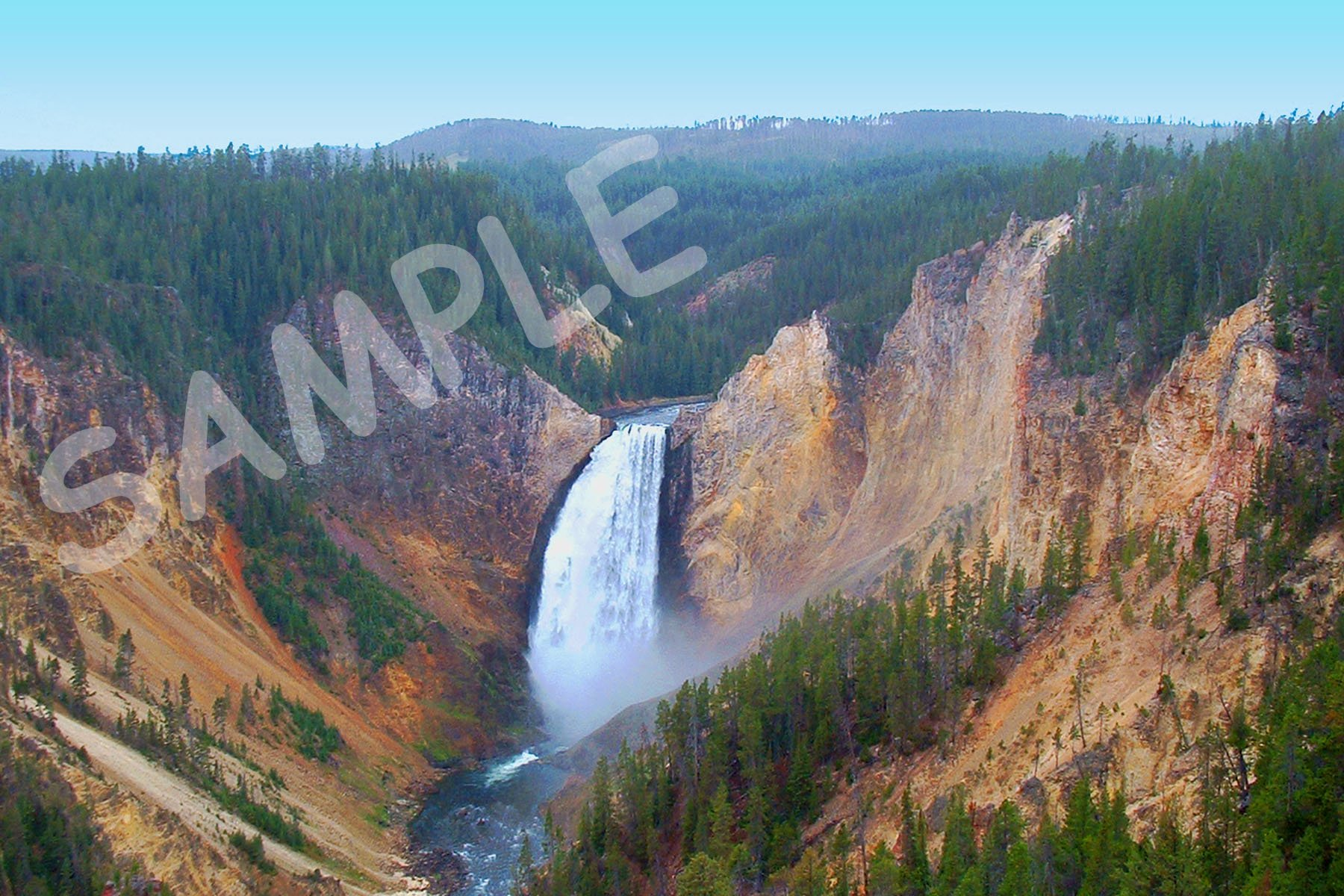 Lower Falls (Landscape) Fabric Block