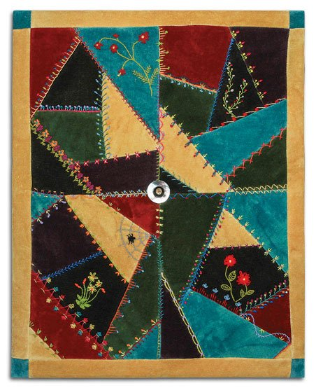 Crazy Quilt Pattern Fabric : Crazy Quilting!