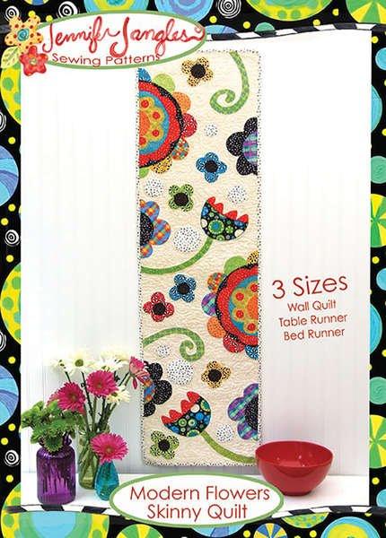 Modern Flowers Skinny Quilt Kit 56x14