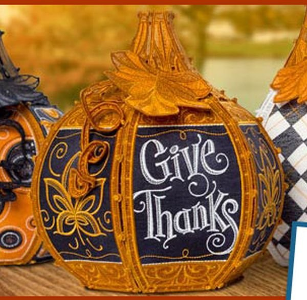 Stand Alone Embroidery Designs : Lace pumpkin