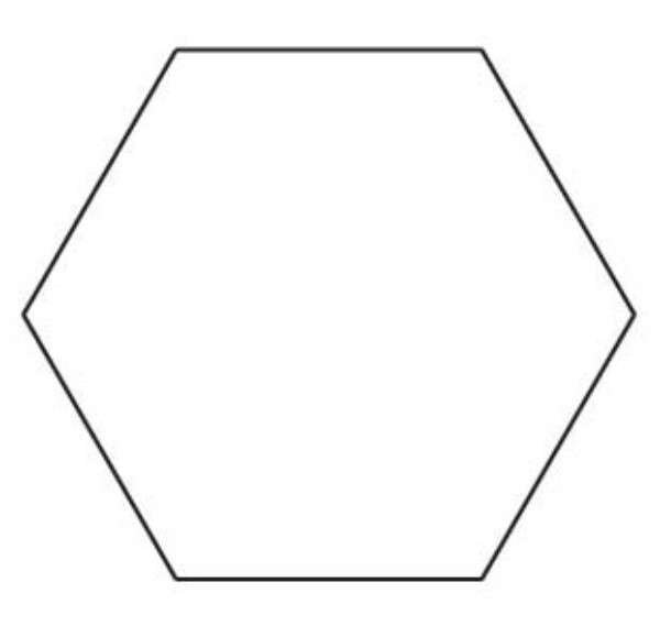 1 hexagon template for 3 inch hexagon template