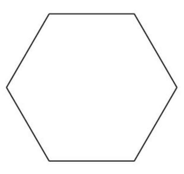 quilting hexagon templates free - 1 hexagon template