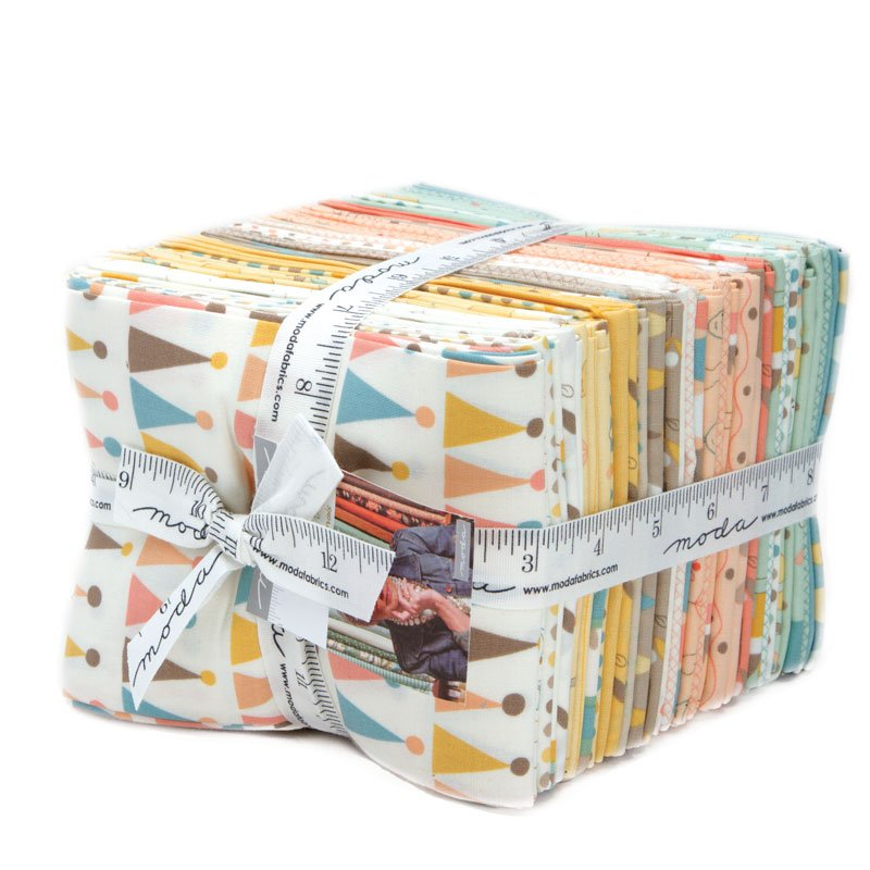 Corner of 5th and Fun Plain Fat Quarter Bundle by Sandy Gervais for Moda 17900AB