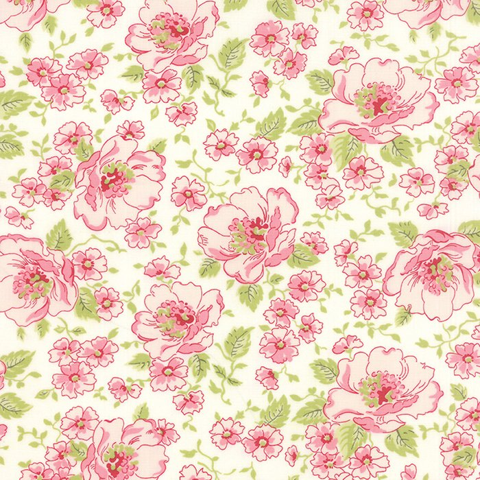 Ambleside Linen White Flower Garden by Brenda Riddle