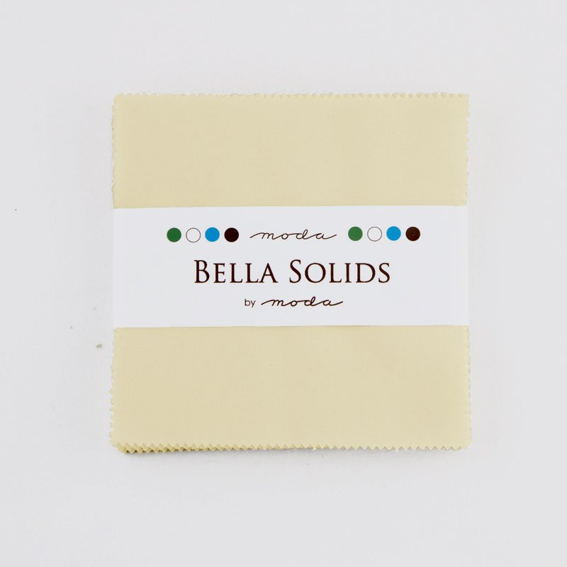 Bella Solids Charm Pack Snow By Moda 9900pp 11