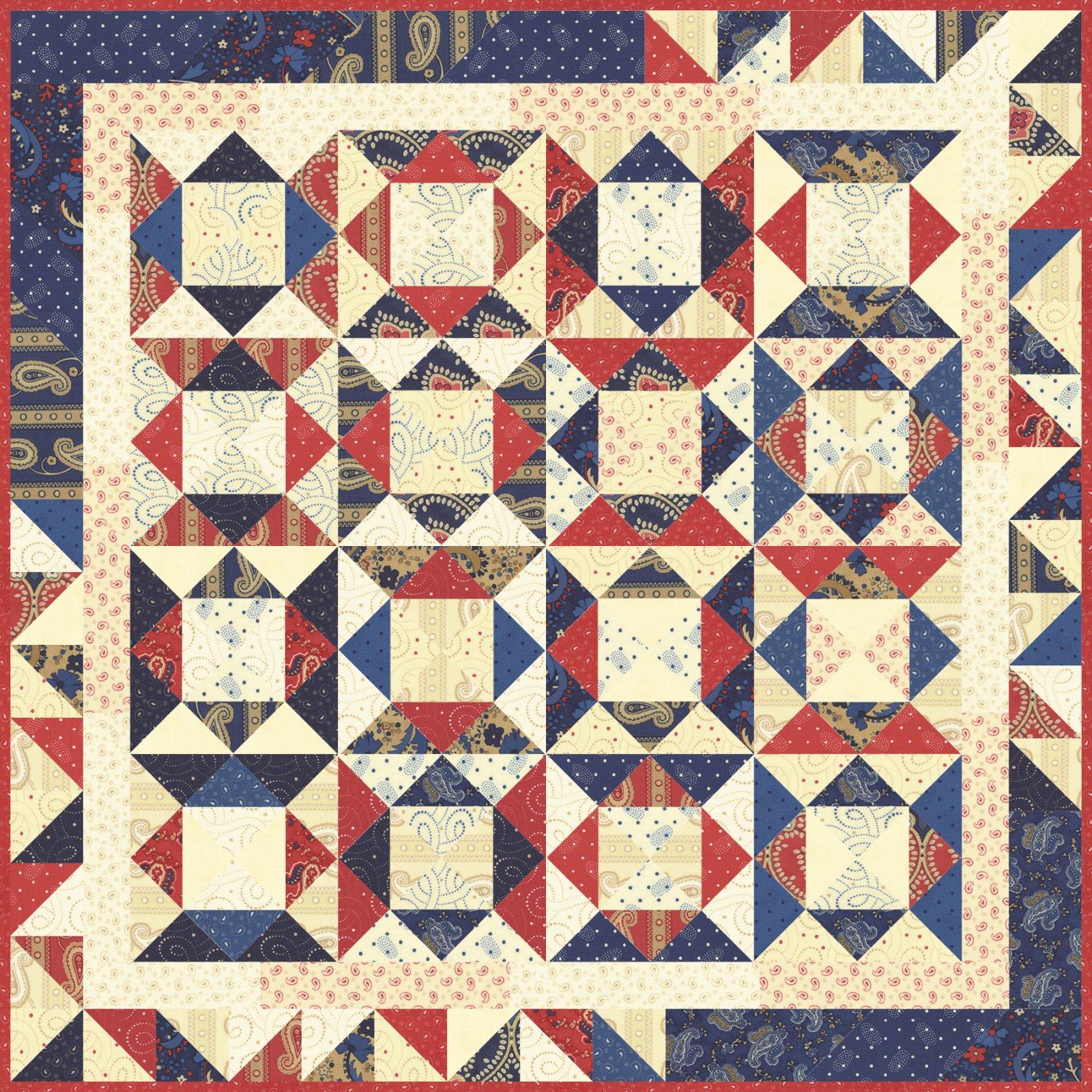 Moda frivol 2 polka dots paisleys by minick simpson quilt kit - Quilt rits ...
