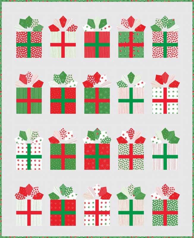 Red Dot Green Dot Quilt Kit