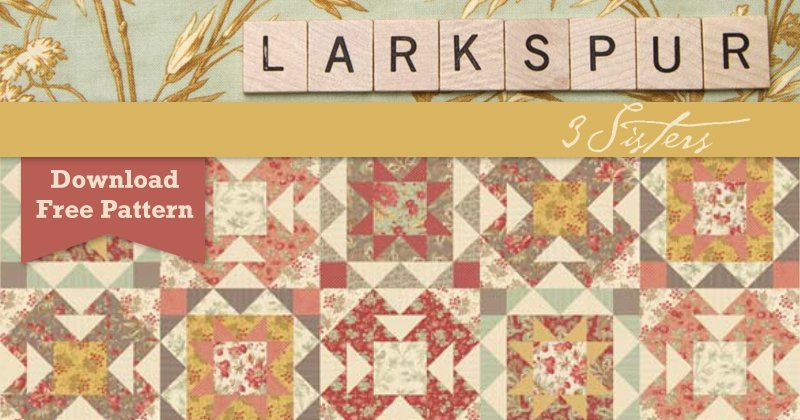 Larkspur By 3 Sisters For Moda