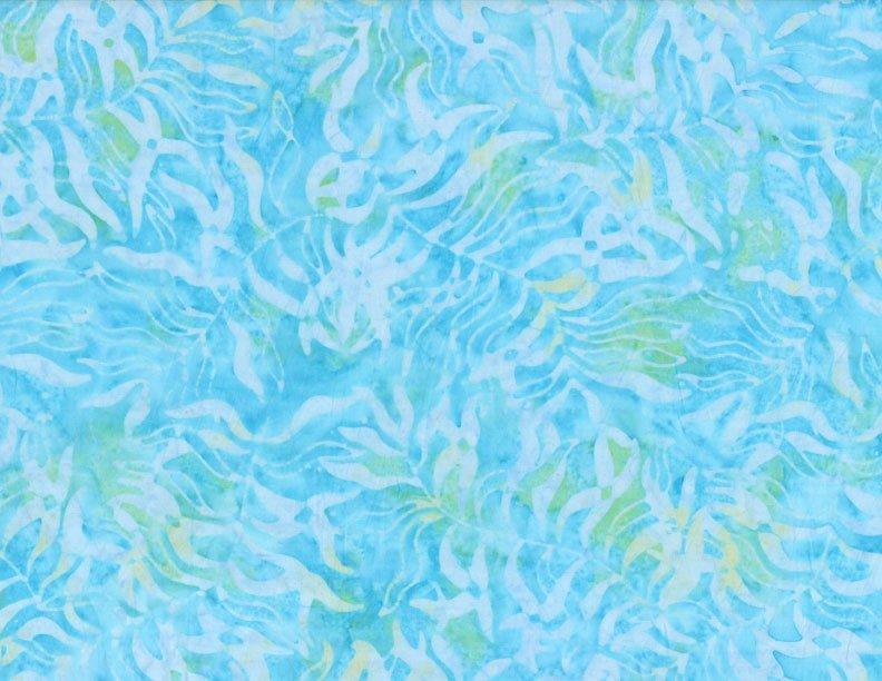Leaves Aqua 106 Batik Discontinued Wide Back Quilt Fabric from ... : discontinued quilt fabric - Adamdwight.com