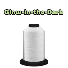 White - 60194 - Spool - 700 yds - Trilobal Poly No. 40 - Luminary - Glow-in-the-Dark