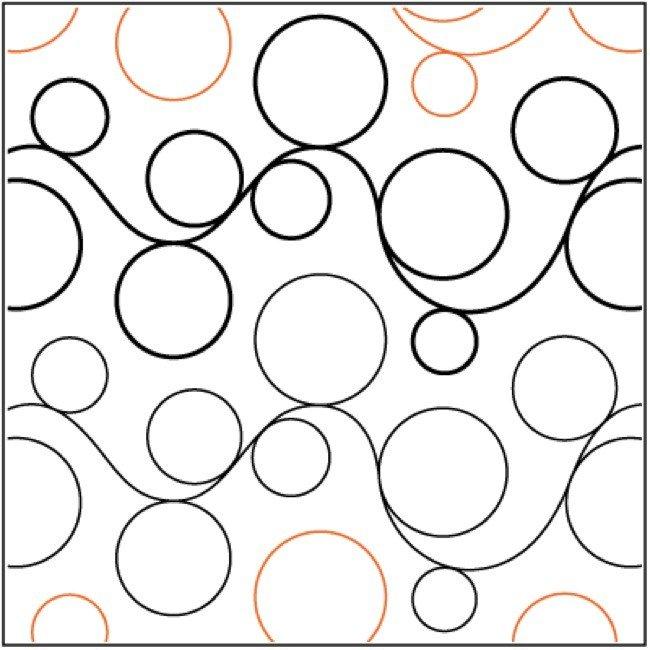 Double Bubble 2 7 Pantograph E2e Quilting Design