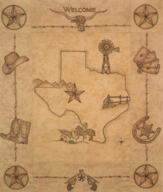 Old Texas Map Kit