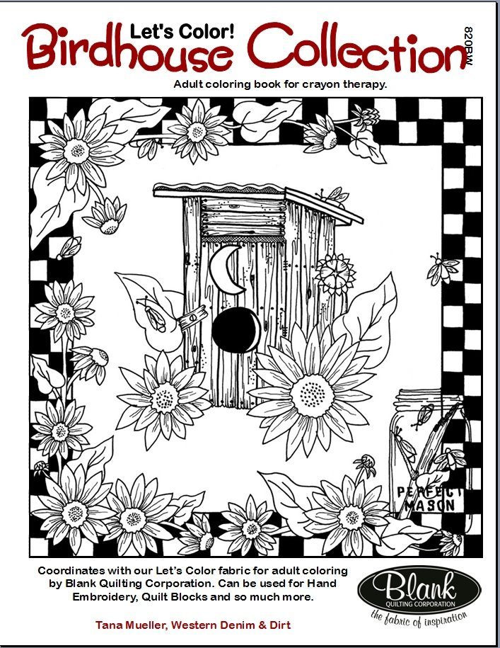 Check It Out Birdhouse Collection Adult Coloring Book