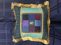 Needlepointed Pillow