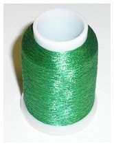 Yenmet Metallic Thread (Solid Green)  - 110-SN10