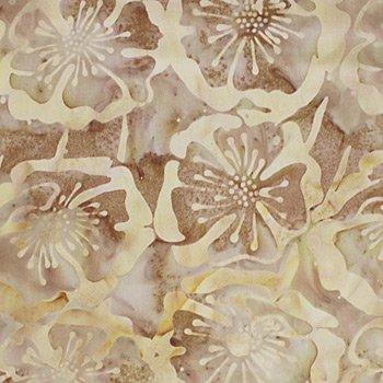 Taupe Floral Batik - 9219