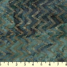 Teal Chevron Batik - 9233