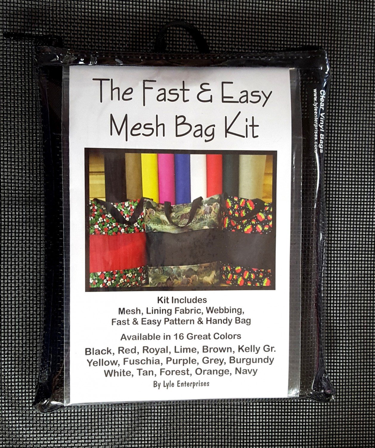 Black Mesh Bag Kit - MBK-02 - MAY BE RESTOCKED UPON REQUEST