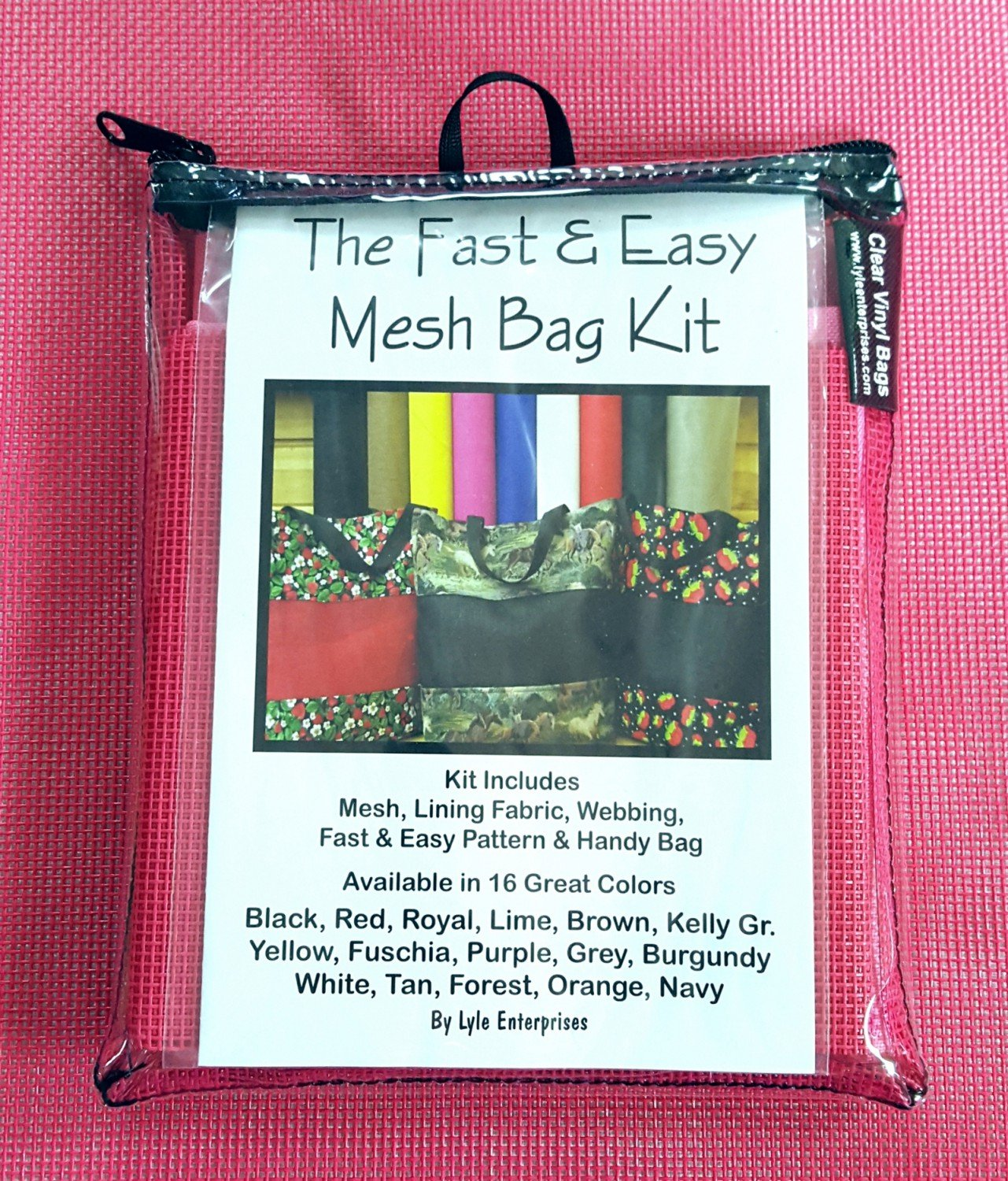Fuchsia Mesh Bag Kit - MBK-320 - MAY BE RESTOCKED UPON REQUEST