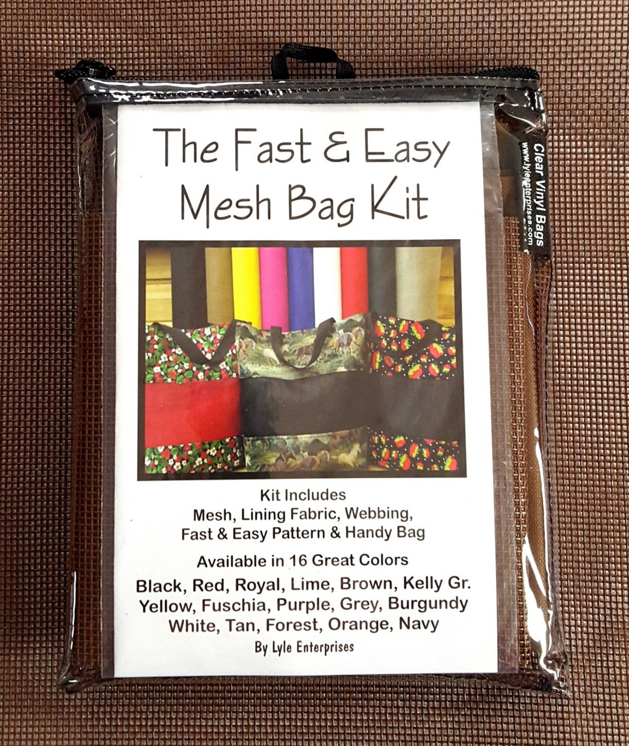 Brown Mesh Bag Kit - MBK-51 - MAY BE RESTOCKED UPON REQUEST