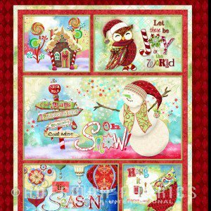Oh Snow Christmas Panel - N4262-71