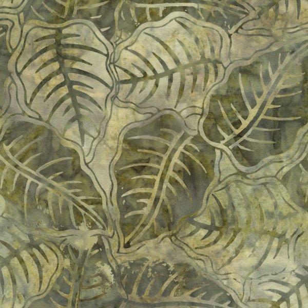 Moss Palmetto Leaf  Tonga Batik - B9843