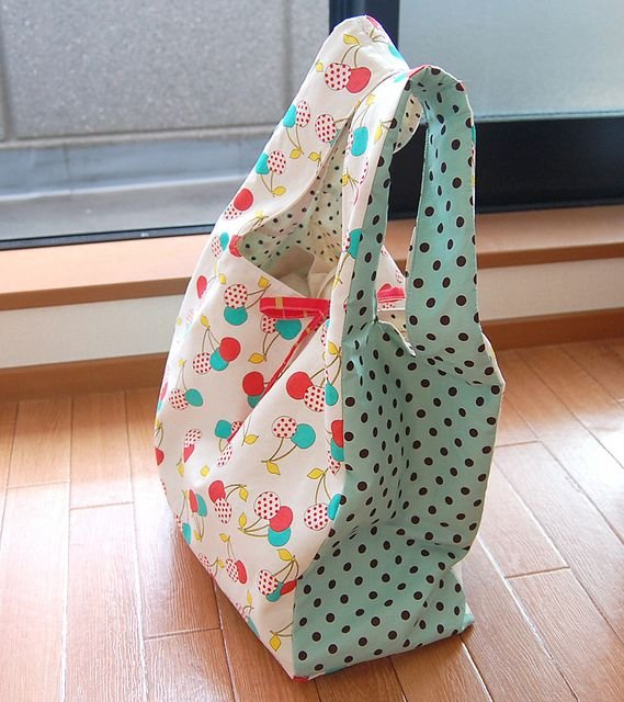 4-H Sewing Class - Re-usable Shopping Tote Bag that folds up in ...