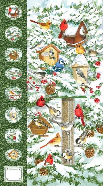 Winter Birds 21262-72 panel