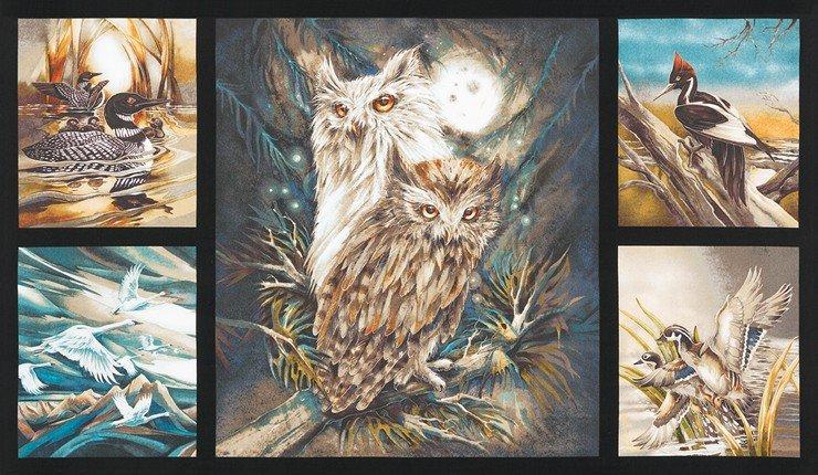 North American Wildlife ABK-16633-169 EARTH panel