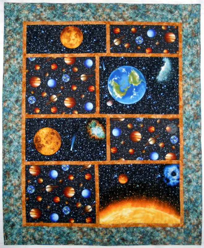 Kit space quilt for Spaceship quilt
