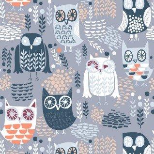 The Big Chill STELLA-578-GREY owls