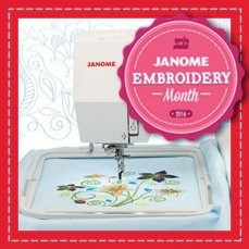 Janome Embroidery Month