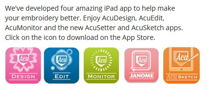 Janome offers apps for ipad