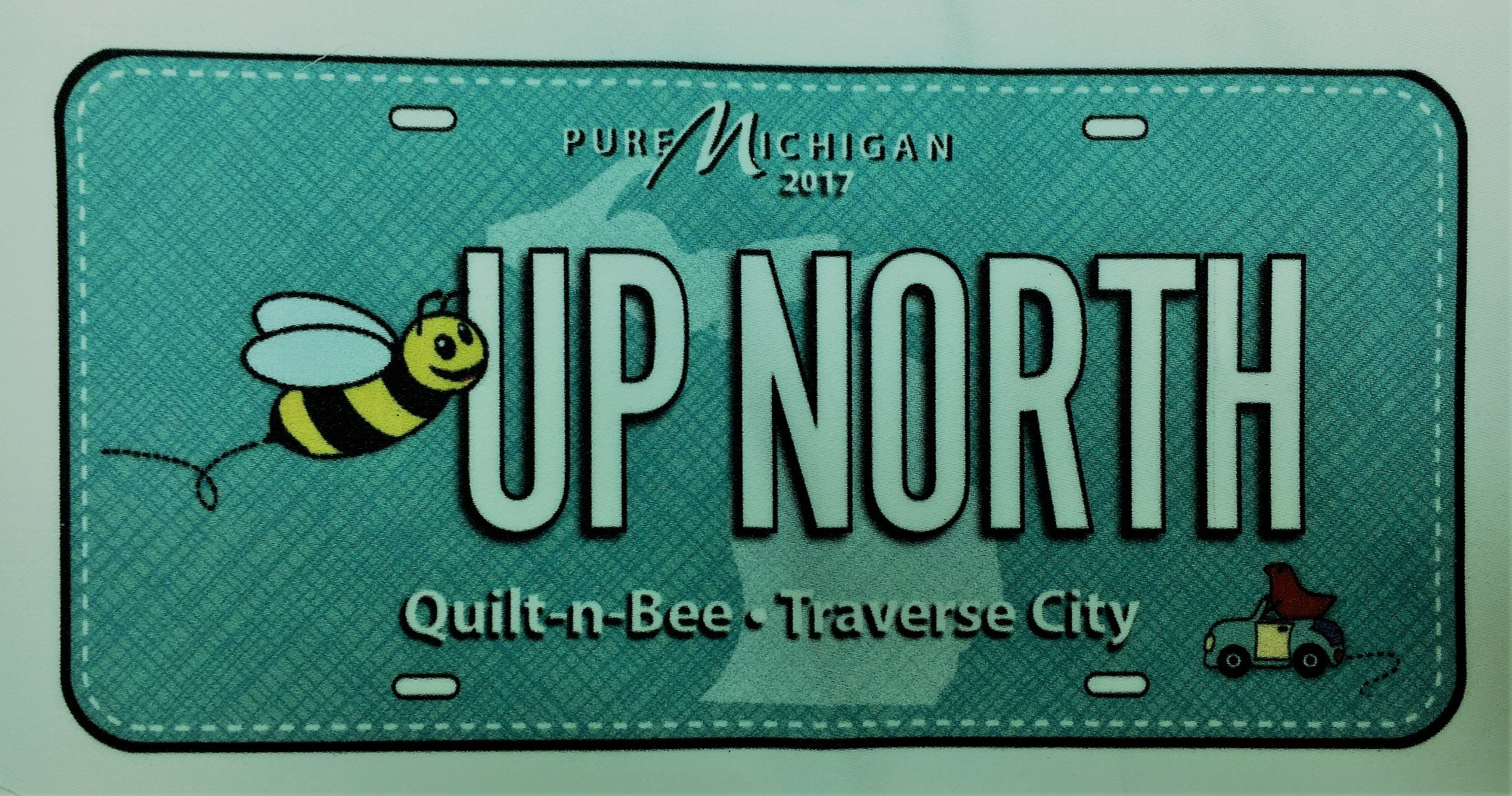 License Plate Bee Up North- 2017