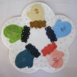 U S A Wool Applique Kit by Woolkeeper