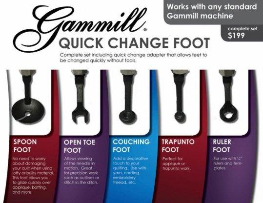 Quick Change Feet Gammill