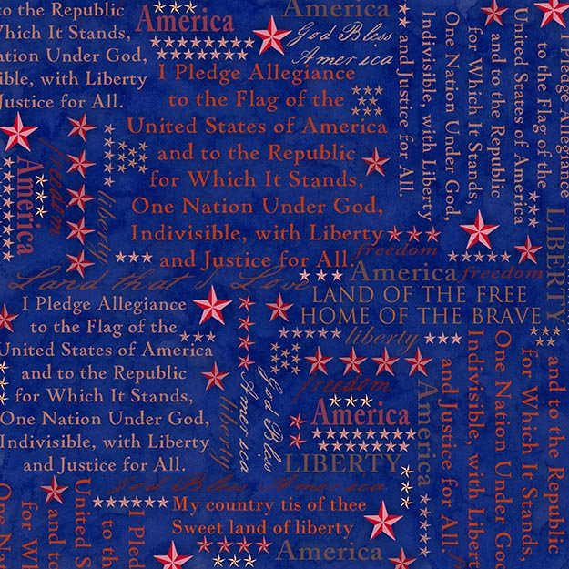 American Dreams Patriotic Song Lyrics on Dark Blue