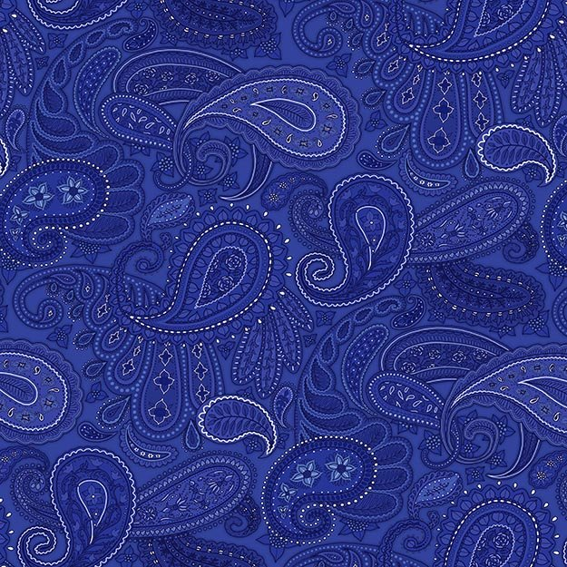 American Dreams Blue Large Paisley