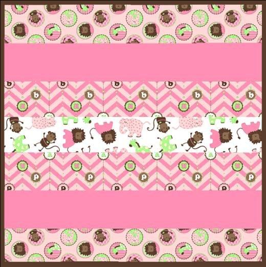 Born Buddies Pink Wee One Cuddle Quilt Kit