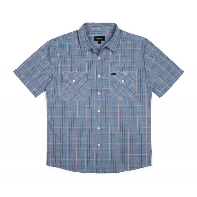 Brixton Memphis S/s woven washed blue