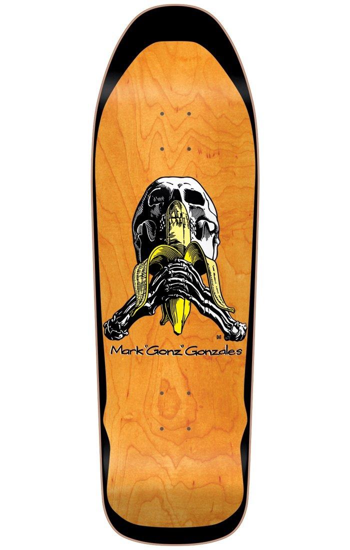 Blind Mark Gonzales Skull and banana Orange Screened 9.875 x 32