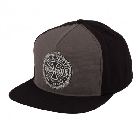 Independent Past-Present-Future Snapback Hat Grey/Black