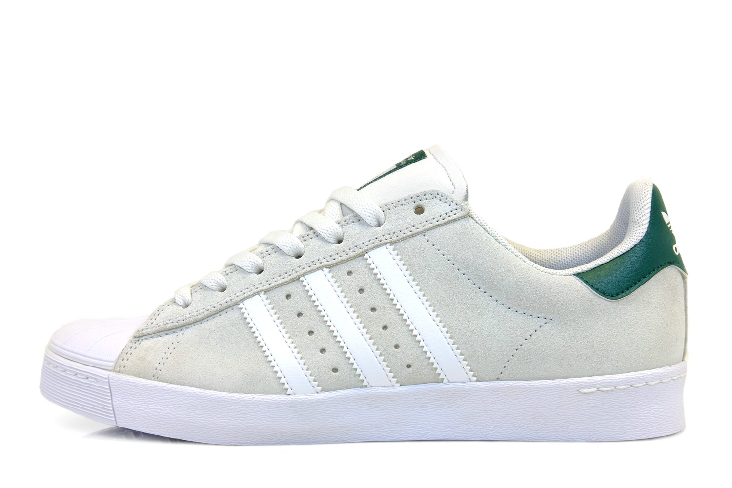 elflj Adidas Superstar Vulc Adv Crystal White / White / Collegiate Green