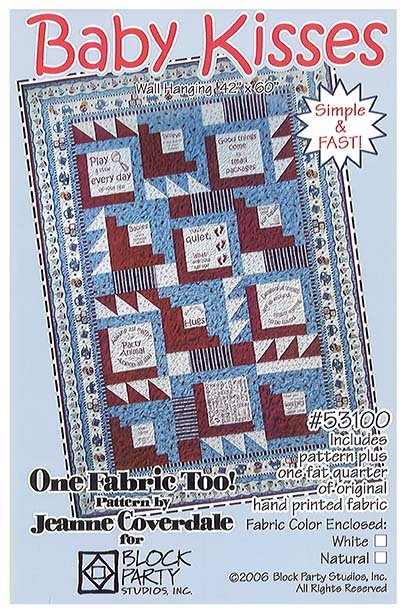 Baby Kisses Quilt Pattern/Panel