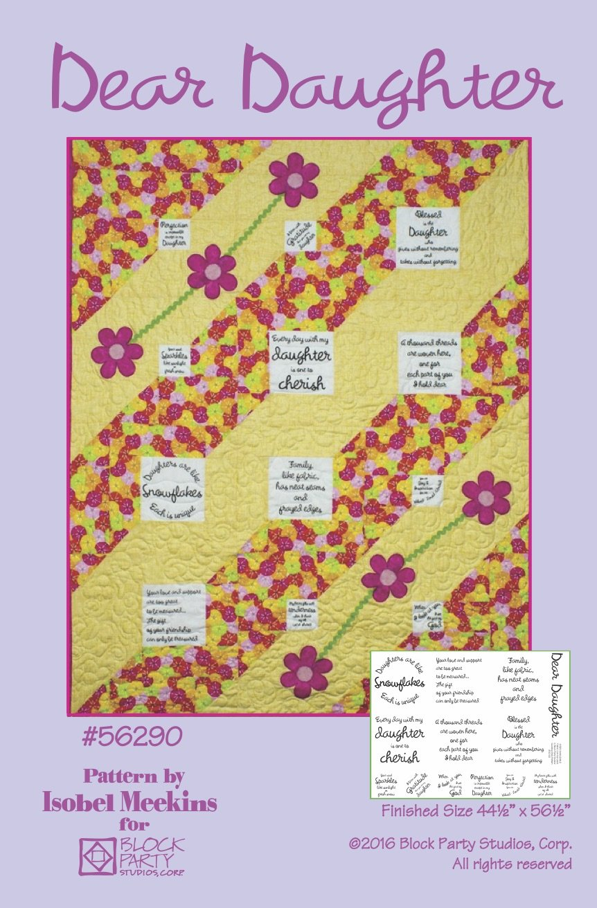 Dear Daughter Quilt Pattern Only